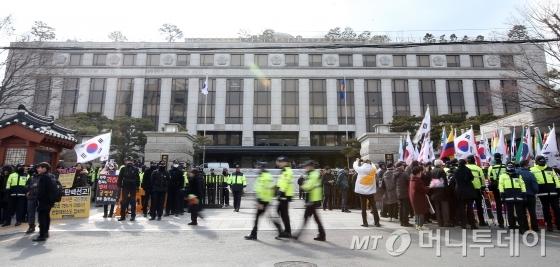 10일 박근혜 대통령 탄핵심판 선고가 내려질 헌법재판소 전경./사진=머니투데이DB