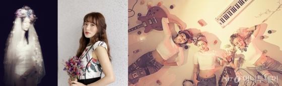 왼쪽부터 김윤아, 심규선, 바버렛츠. /사진제공=에이아이엠<br />