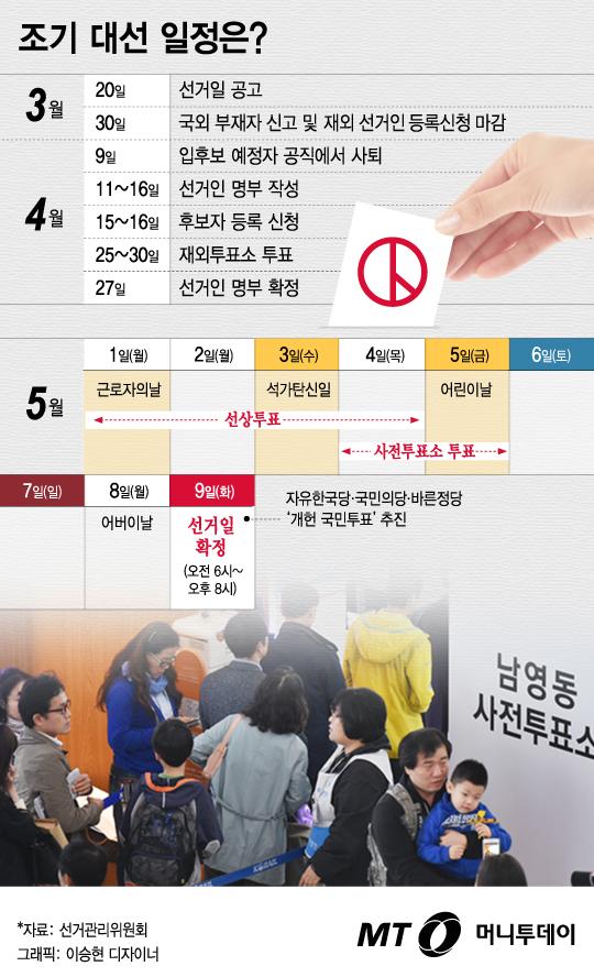 [그래픽뉴스] 5월 9일 대선 확정, '퐁당퐁당 휴일' 달력 보니…