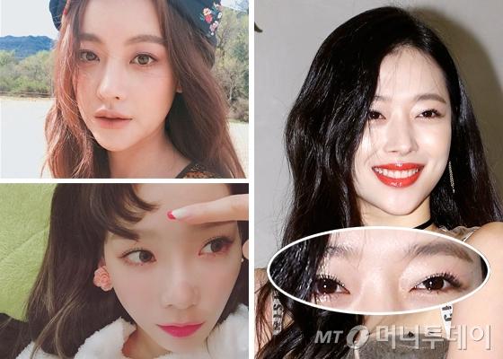 배우 오연서, 소녀시대 태연, 배우 설리 /사진=오연서, 태연 인스타그램, 머니투데이DB