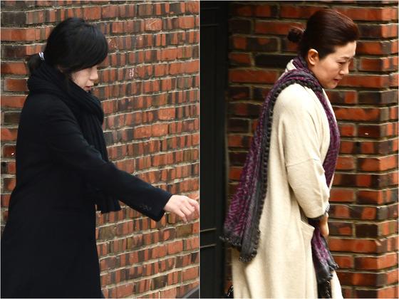 18일 오전 박근혜 전 대통령 사저를 방문한 정송주 원장(왼쪽)과 정매주 원장/ 사진제공=뉴스1