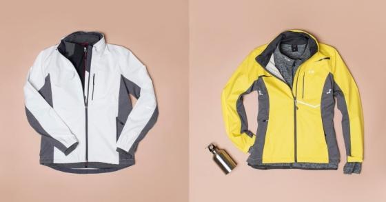 '웜업세트'와 'CPX 올라운드 자켓'을 레이어드 한 모습/사진제공=센터폴