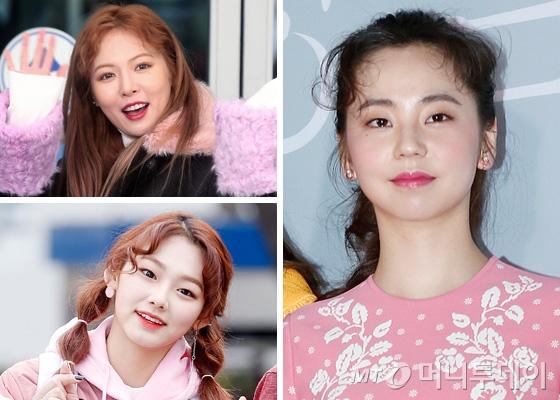 가수 현아, 구구단 미나, 배우 안소희 /사진=머니투데이DB