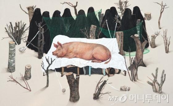6년 만에 개인전을 여는 이진주 작가의 작품 '얇은 찬양' /사진제공=갤러리 아라리오 서울