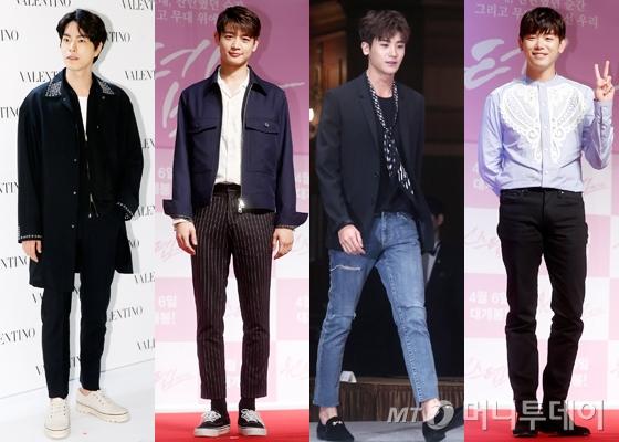 배우 홍종현, 샤이니 민호, 배우 박형식, 가수 에릭남. /사진=머니투데이DB