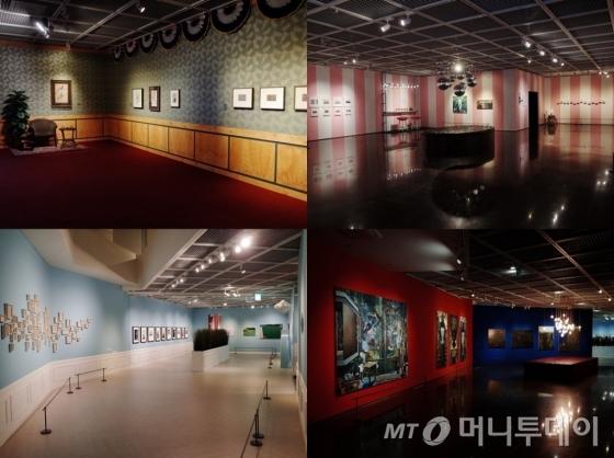 서울미술관 '카페소사이어티'전 전경. /사진제공=카페소사이어티