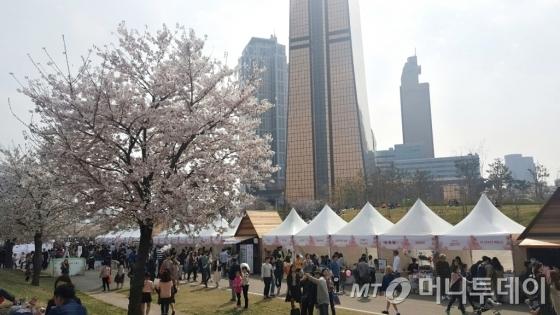 8일 서울 영등포구 여의도 일대에서 열린 '벚꽃피크닉페스티벌 2017' 현장. /사진=구유나 기자