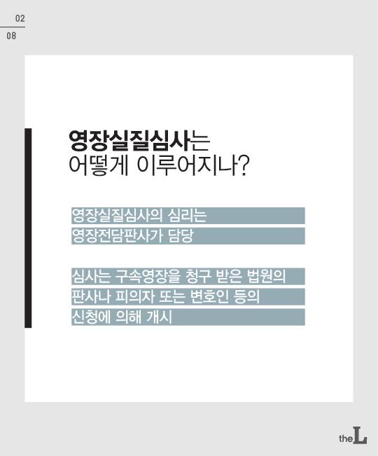 [카드뉴스] '구속영장실질심사'의 의미와 '영장'의 종류