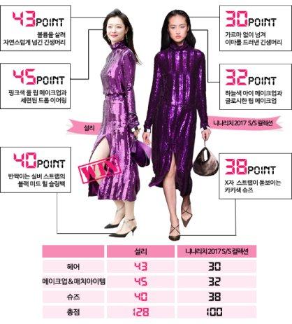 """설리 vs 모델, '니나리치' 원피스 대결…""""같은 옷 다른 느낌"""""""