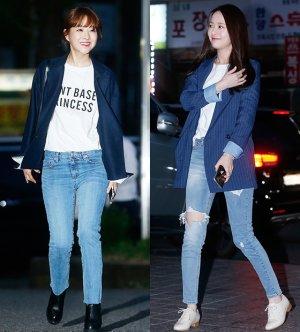 박보영 vs 손여은, '흰 티에 청바지' 패션…승자는?