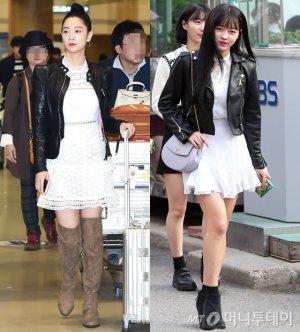 클라라 vs 오마이걸 유아, 스커트+가죽 재킷 룩…승자는?