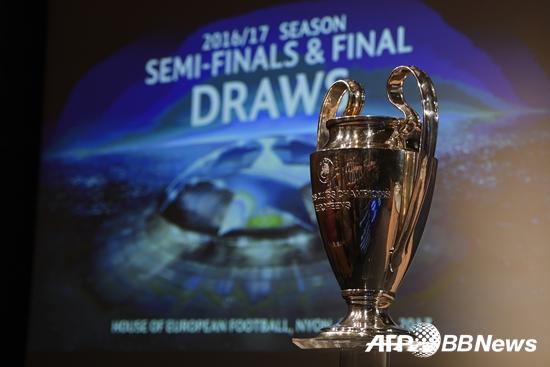 챔피언스리그 트로피. /AFPBBNews=뉴스1<br /> <br />