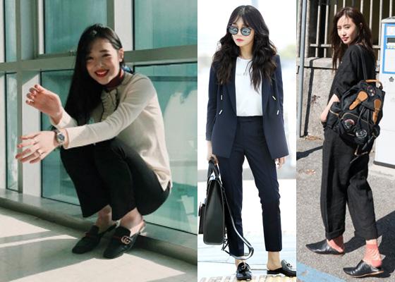 f(x) 출신 배우 설리, 에이핑크 정은지, 소녀시대 유리 /사진제공=설리 인스타그램, 뉴스1, 디마코