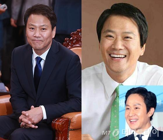 임종석 청와대 비서실장, 배우 정우(오른쪽<br />  아래 작은 사진). /사진=청와대, 머니투데이 DB