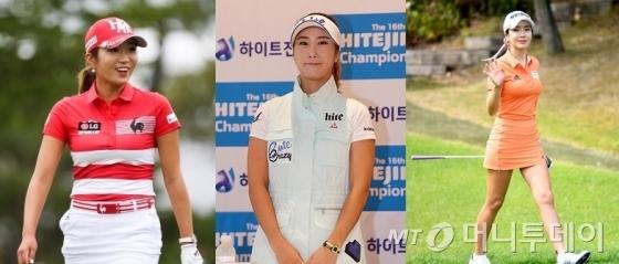 이보미, 김하늘, 안신애 골퍼 /사진=KLPGA,  뉴시스, 뉴스1