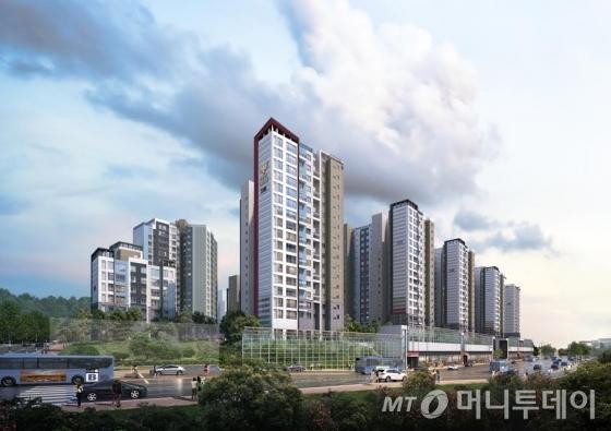서울 은평구 수색증산뉴타운 소재 DMC 롯데캐슬 더 퍼스트 투시도. /자료제공=리얼투데이