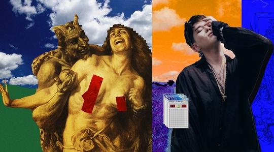 딘 US싱글 'love(ft. Syd)' 커버아트(왼쪽), 가수 DEAN/사진제공=유니버설뮤직, 줌바스
