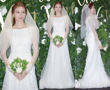 '주상욱과 결혼' 차예련, 순백의 웨딩드레스…우아함 '물씬'