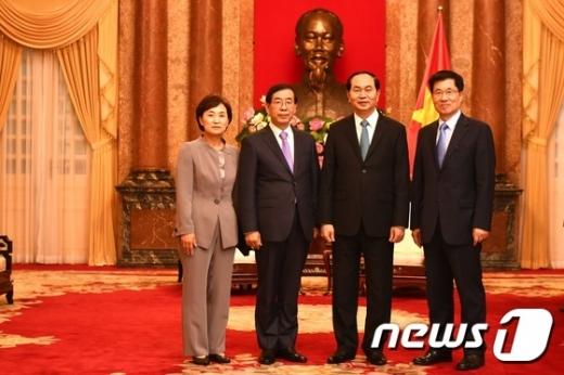 박원순 아세안 특사, 베트남 최고지도자 '빅3' 예방