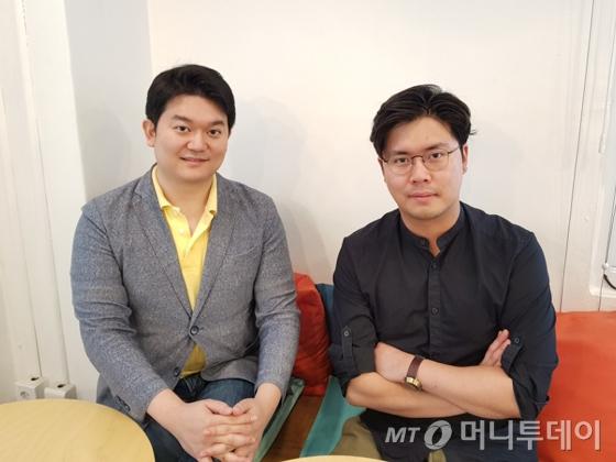 강상우 대표와 서철우 프롬제로 대표(오른쪽)/사진=배영윤 기자