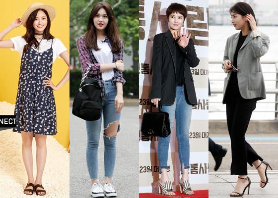 왼쪽부터 소녀시대 윤아, 아이오아이 출신 가수 전소미, 배우 김선아, 가수 겸 배우 수지 /사진=에이치커넥트, 머니투데이DB