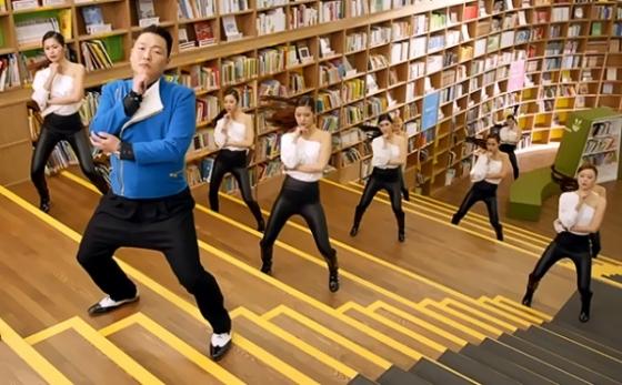 싸이 '젠틀맨' 뮤직비디오에는 '서울도서관' 내부가 나온다.