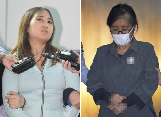 정유라씨(왼쪽)와 어머니<br />  최순실씨./ 사진=뉴스1