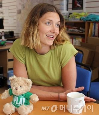 영국 런던에서 만난 아동 놀권리 관련 활동가  닉 매큐언(시민단체 런던플레이 소속)/사진=진달래 기자