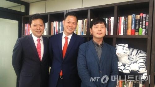 왼쪽부터 오종태 이사, 이재완 대표, 김권 이사.