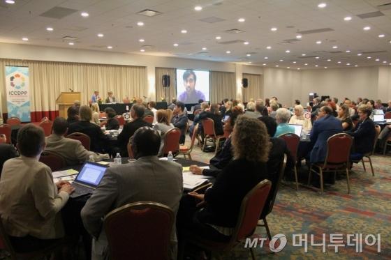 지난 2015년 미국 디모인에서 열린 '국제 진로개발 공공정책센터(ICCDPP)에서 참석자들이 강연을 경청하고 있다. /사진제공=교육부
