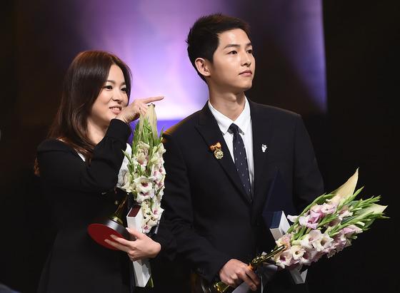 배우 송혜교(왼쪽), 송중기. /사진=뉴스1