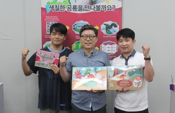 뷰아이디어 임찬규 팀장, 김하동 대표, 박대수 팀장(좌측부터)