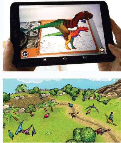 공룡이 살아 움직인다..뷰아이디어 '3D 컬러링 북' 주목
