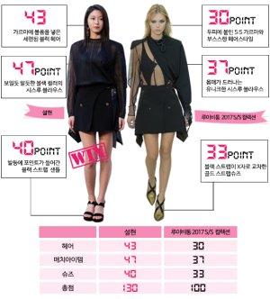 설현 vs 모델, 루이비통 '미니 랩 스커트' 대결…승자는?