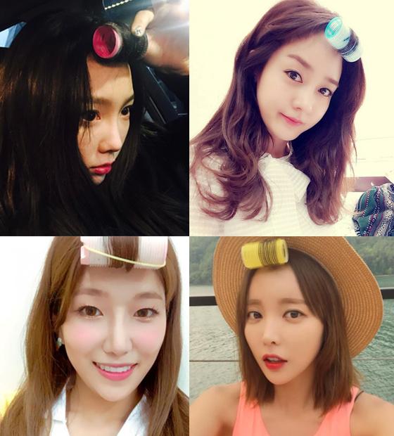 태연, 성유리, 홍진영, 다원/사진=태연, 성유리, 홍진영, 우주소녀 공식 인스타그램