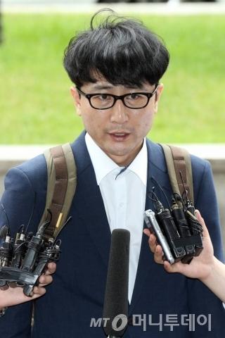 이준서 전 국민의당 최고위원(40)이 7일 오후 조사를 받으러 서울남부지검에 출석했다. /사진=이기범 기자
