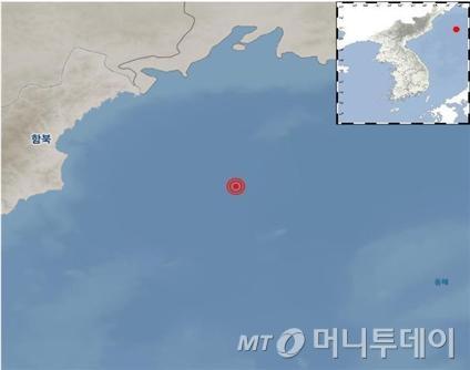 """새벽 북한 나진 5.7규모 지진…기상청 """"자연지진"""""""