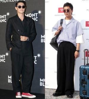 배정남 vs 위너 송민호, '블랙 와이드 팬츠' 패션 승자는?