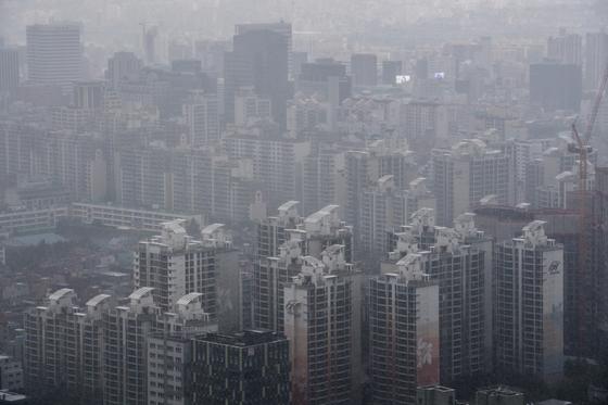 서울 강남구 무역센터에서 보이는 아파트 밀집지역. /사진=뉴스1