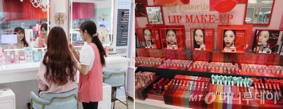 일본 내 한국 화장품 매장 모습/사진제공=니혼게이자이 신문