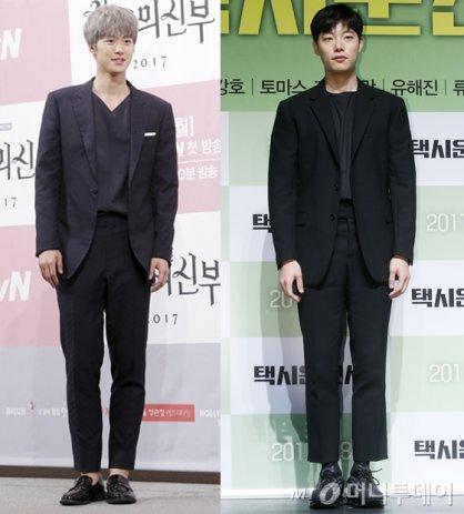 공명 vs 류준열, '올 블랙 슈트' 패션 대결 승자는?