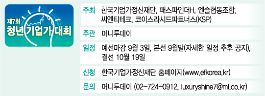 [알림]제7회 청년기업가대회, 최고의 엔젤·VC로 심사위원단 구성