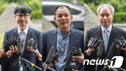 이준서 전 국민의당 최고위원(왼쪽부터), 김성호 전 의원, 김인원 변호사 © News1