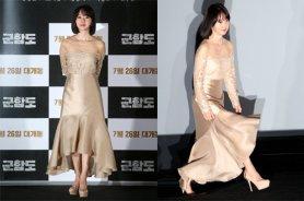 """'군함도' 이정현, 고혹적인 금빛 드레스 자태…""""우아해"""""""