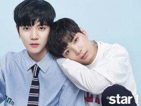 '프듀2' 김종현·최민기, 깔끔한 셔츠 패션…'케미폭발'
