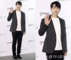 """'프듀2' 박성우, 스트라이프 재킷 패션…""""훈훈해"""""""