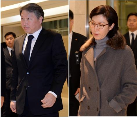 최태원 SK그룹 회장과 부인 노소영 아트센터 나비 관장/ 사진=뉴스1