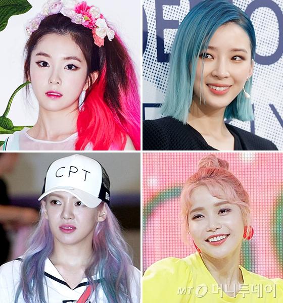 레드벨벳 아이린, 모델 아이린, 마마무 솔라, 소녀시대 효연(시계 방향)/사진=머니투데이 DB