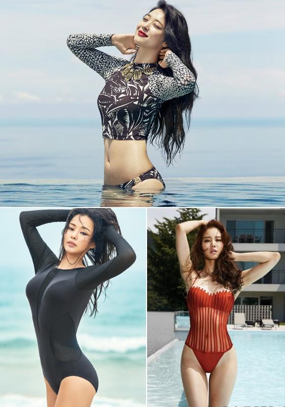 배우 설리, 이하늬, 황승언/사진=코스모폴리탄, 인스타일, 맥심