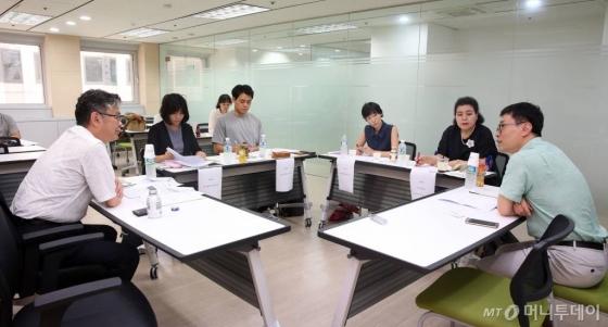 7월12일 서울 종로구 머니투데이 본사에서 열린 [창간기획-놀이가 미래다, 노는 아이를 위한 대한민국] 대담에 참가한 전문가들/사진=임성균 기자